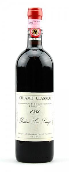 Wein 1986 Chianti Classico Podere San Luigi