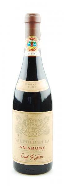 Wein 1983 Amarone Recioto della Valpolicella Righetti