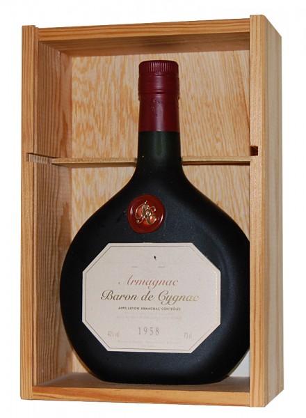 Armagnac 1958 Armagnac Baron de Cygnac