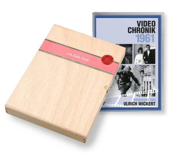 DVD 1961 Chronik Deutsche Wochenschau in Holzkiste
