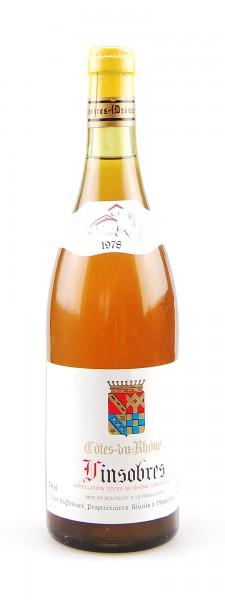Wein 1978 Vinsobres Cotes du Rhone Cave du Prieure