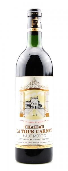 Wein 1978 Chateau La Tour Carnet 4eme Grand Cru Classe