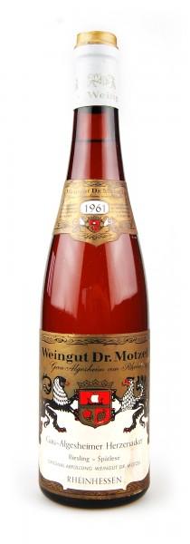 Wein 1961 Gau-Algesheimer Herzenacker Spätlese Riesling