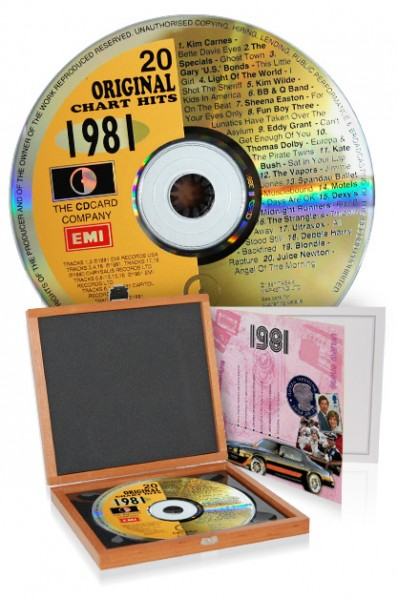 CD 1981 Musik-Hits in Luxusbox
