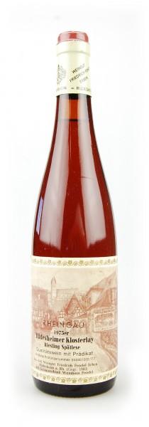 Wein 1975 Rüdesheimer Klosterlay Riesling Spätlese