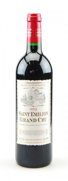 Wein 2003 Grand Cru Saint Emilion Union de Producteurs