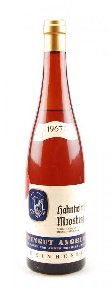 Wein 1967 Hahnheimer Moosberg Müller-Thurgau