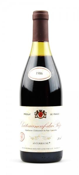 Wein 1986 Chateauneuf du Pape Anterroche