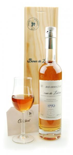 Armagnac 1990 Bas-Armagnac Baron de Lustrac
