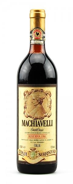 Wein 1981 Chianti Classico Riserva Conti Serristori