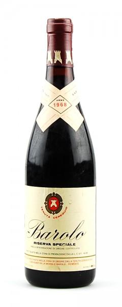 Wein 1968 Barolo Tenuta Cerequio Riserva Speciale