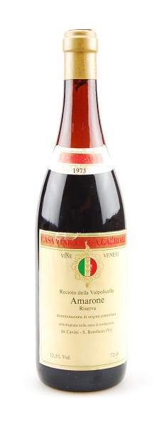 Wein 1973 Amarone della Valpolicella Riserva Garibaldi