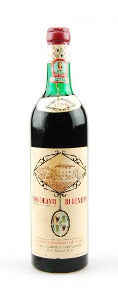 Wein 1966 Chianti Montagnana Rubentino