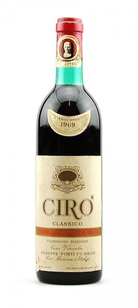 Wein 1969 Ciro Classico Giuseppe Porti fu Diego