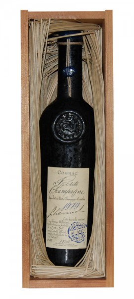 Cognac 1979 Lheraud Petite Champagne in Holzkiste