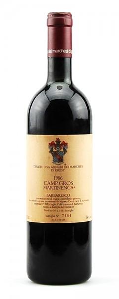Wein 1986 Barbaresco Marchesi di Gresy Camp Gros Martinenga