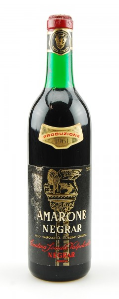 Wein 1961 Amarone Negrar Recioto della Valpolicella