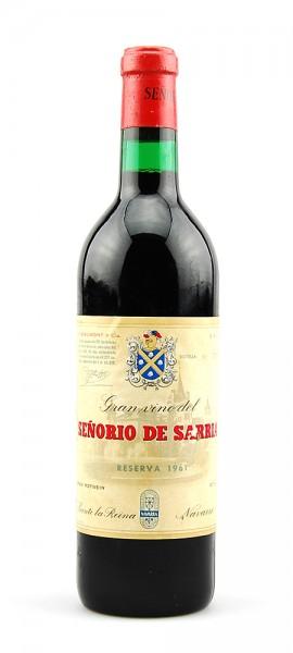 Wein 1961 Senorio de Sarria Reserva