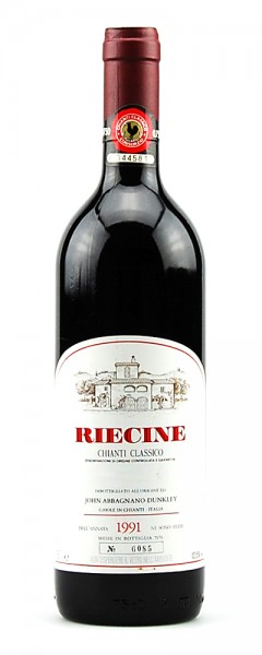 Wein 1991 Chianti Classico Riecine Numerata
