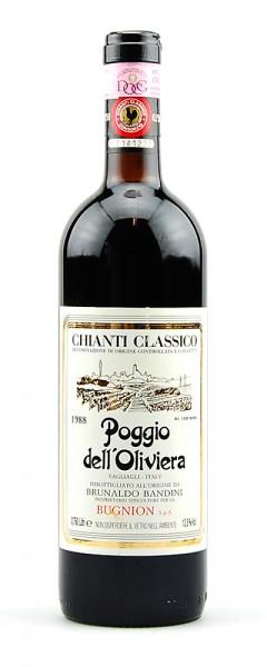 Wein 1988 Chianti Classico Poggio dell Olivera