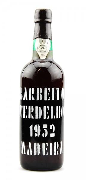 Madeira 1952 Barbeito Verdelho