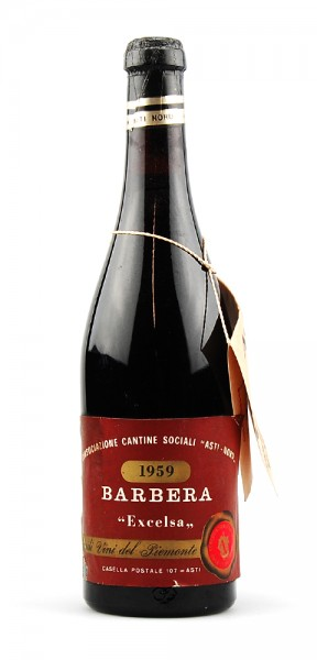 Wein 1959 Barbera Excelsa Cantina Sociale Asti Nord