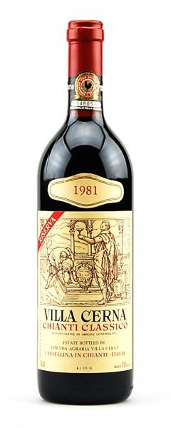 Wein 1981 Chianti Classico Riserva Villa Cerna