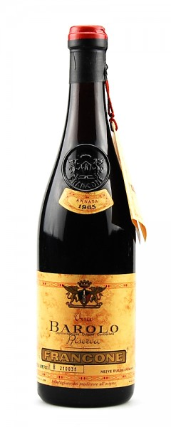Wein 1965 Barolo Francone Riserva Numerata