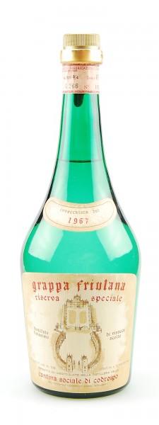 Grappa 1967 Friulana Riserva Speciale di Codroipo