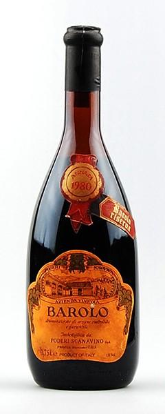 Wein 1980 Barolo Scanavino Riserva