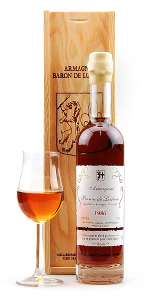 Armagnac 1986 Bas-Armagnac Baron de Lustrac