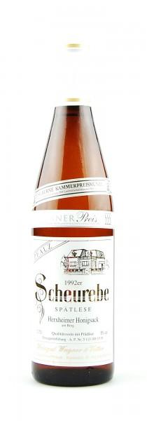 Wein 1992 Herxheimer Honigsack Scheurebe Spätlese