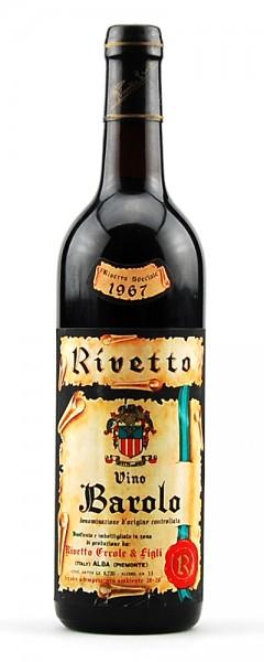 Wein 1967 Barolo Rivetto Riserva Speciale
