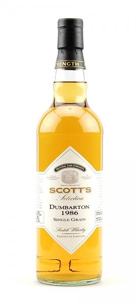 Whisky 1986 Dumbarton Single Grain Scotch Whisky