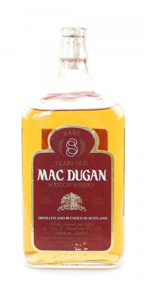 Whisky 1965 Mac Dugan Rare 8 Years Blended Scotch