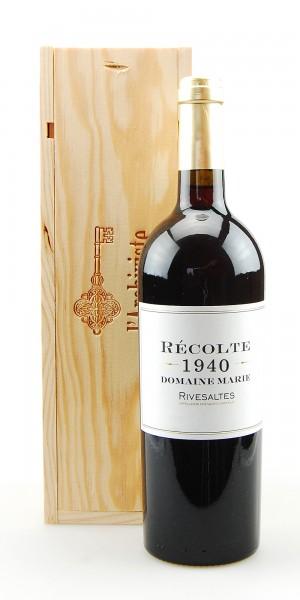 Wein 1940 Rivesaltes Domaine Marie