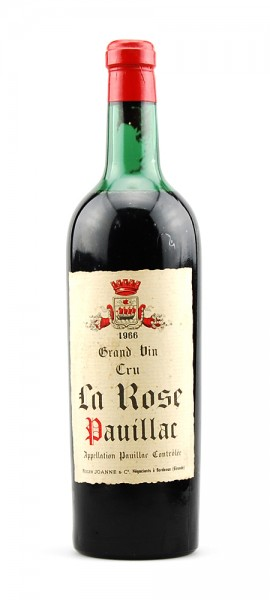 Wein 1966 Grande Vin Cru La Rose
