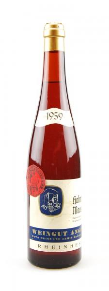 Wein 1959 Hahnheimer Moosberg Müller-Thurgau