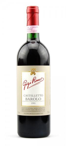 Wein 1993 Barolo Castelletto Gigi Rosso