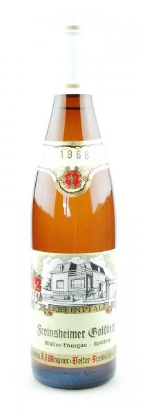 Wein 1968 Freinsheimer Goldberg Spätlese Müller-Thurgau