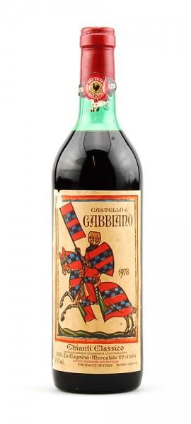 Wein 1978 Chianti Classico Castello di Gabbiano