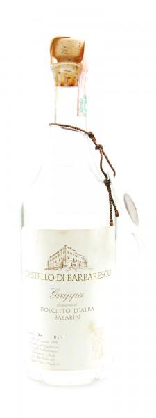 Grappa 1986 Dolcetto d´Alba Basarin Castello di Barbaresco