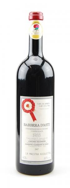 Wein 1988 Barbera d´Asti Clemente Cossetti