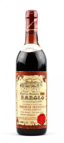 Wein 1982 Barolo Brunate Riserva Francesco Borgogno
