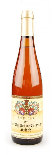 Wein 1967 Gau-Algesheimer Herzenacker Spätlese