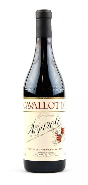 Wein 1979 Barolo Cavalotto Riserva
