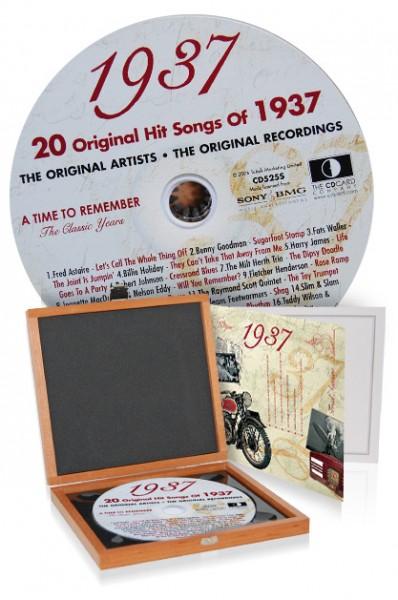 CD 1937 Musik-Hits in Luxusbox, auch mit Gravur!