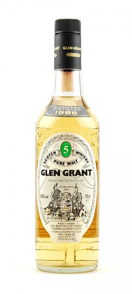 Whisky 1986 Glen Grant Highland Malt 5 years old