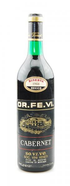 Wein 1968 Cabernet Riserva OR.FE.VI Roncade
