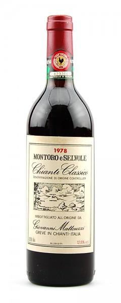Wein 1978 Chianti Classico Montoro e Selvole